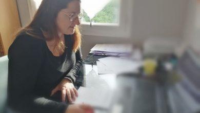 Photo de «Vis ma vie de confinée» : Sandrine en télétravail.